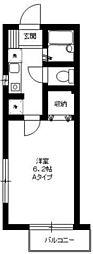 東京都足立区関原1丁目の賃貸アパートの間取り