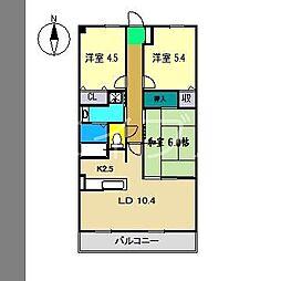 フィネス北久保 A棟[2階]の間取り