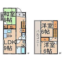 [一戸建] 東京都あきる野市山田 の賃貸【東京都 / あきる野市】の間取り