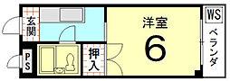 やまいくマンション[206号室]の間取り
