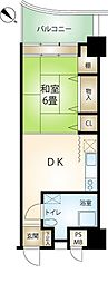 ハイネス来の宮熱海グリーンサイド 5階1DKの間取り