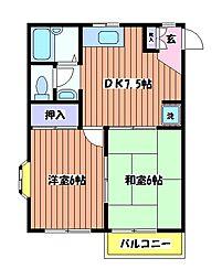 パルコート柴崎[2階]の間取り