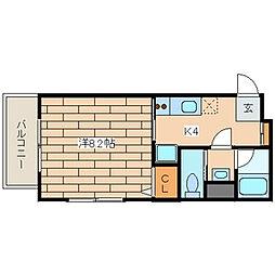 グレース川崎[6階]の間取り