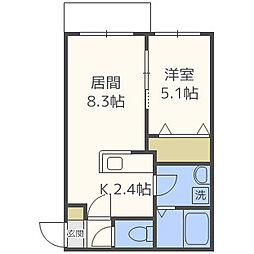 クレステージN31[3階]の間取り