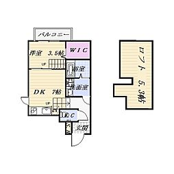 FAMILY STAGE道徳III[2階]の間取り