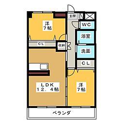 パークサイドカノウ[8階]の間取り
