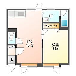 レスポアール18[3階]の間取り