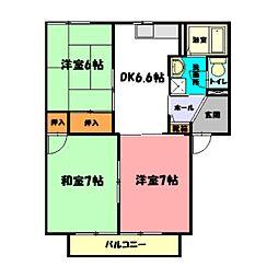 Msガーデンプラザ[2階]の間取り