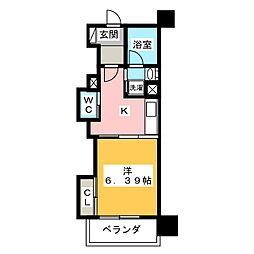静岡清閑町エンブルコート[5階]の間取り