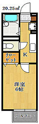 千葉県船橋市旭町4丁目の賃貸アパートの間取り
