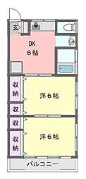 小倉ハイツA棟[102号室]の間取り