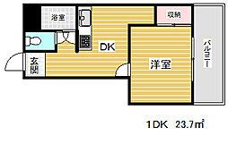 花隈ダイヤハイツ[5階]の間取り