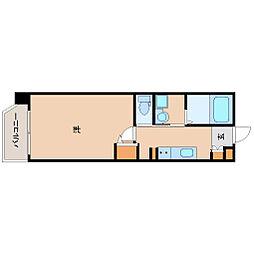 ルミエール阪神尼崎 4階1Kの間取り