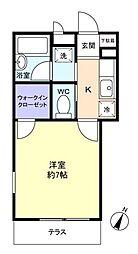 千葉県船橋市西習志野3丁目の賃貸アパートの間取り