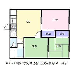 エクセルオタケ[2階]の間取り
