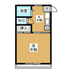 佐々木アパート[2階]の間取り