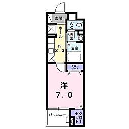カームシティYASUDAIII[504号室]の間取り