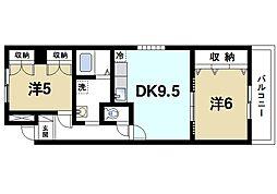 プラムキャッスルS−1[7階]の間取り