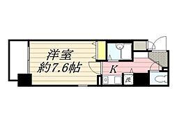 プレサンス西心斎橋[9階]の間取り
