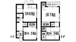 [テラスハウス] 大阪府池田市神田3丁目 の賃貸【/】の間取り