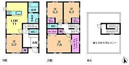 [一戸建] 京都府相楽郡精華町桜が丘3丁目 の賃貸【/】の間取り