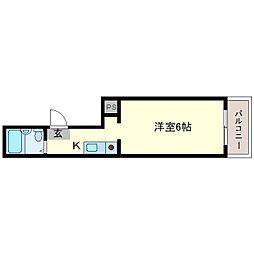 ロイヤル北三国[2階]の間取り