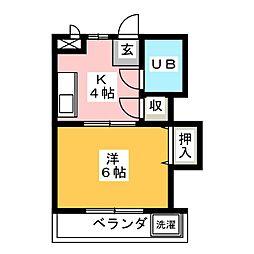タケセイハイツ内田橋[1階]の間取り