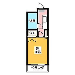プレジール藤枝[3階]の間取り