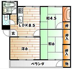 センチュリ−ハイツ[3階]の間取り
