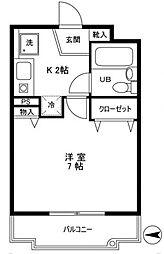 パレ・ドール豊玉中[1階]の間取り