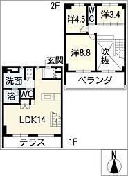 東山元町ハウス[2階]の間取り