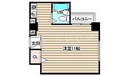 エクセランス梅田西[8階]の間取り