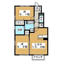 D−roomまほろば[1階]の間取り