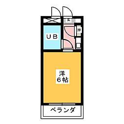 愛知県名古屋市南区呼続1の賃貸マンションの間取り