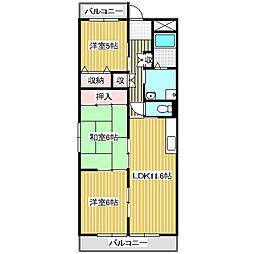 愛知県名古屋市港区高木町3丁目の賃貸マンションの間取り