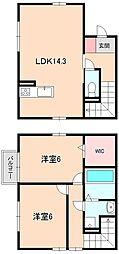 [テラスハウス] 大阪府豊中市宮山町2丁目 の賃貸【/】の間取り