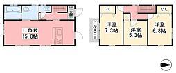[一戸建] 愛媛県松山市保免西2丁目 の賃貸【/】の間取り