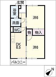 メゾンピュアコート B棟[2階]の間取り