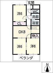 マロンシャンテ[4階]の間取り