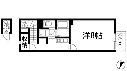 兵庫県宝塚市売布4丁目の賃貸アパートの間取り