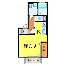 仮)D-room今池町[201号室]の間取り