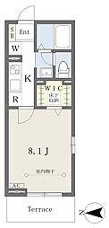 仮)西所沢2丁目計画 1階1Kの間取り