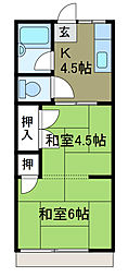 ハイム前田[1階]の間取り