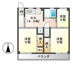 ビレッジハウス各務原 1・2・3・4棟[2階]の間取り