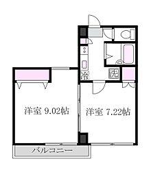 東京都三鷹市下連雀6丁目の賃貸マンションの間取り