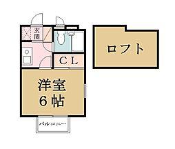 KYアパートメント[202号室]の間取り