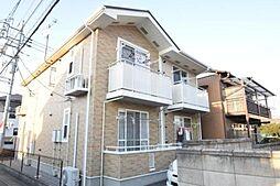 群馬県高崎市上佐野町の賃貸アパートの外観