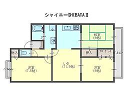シャイニーSHIBATA2[2階]の間取り
