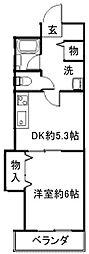 ハピネスII番館[1階]の間取り