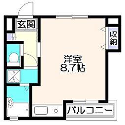 第6アルレ堀之内[2階]の間取り